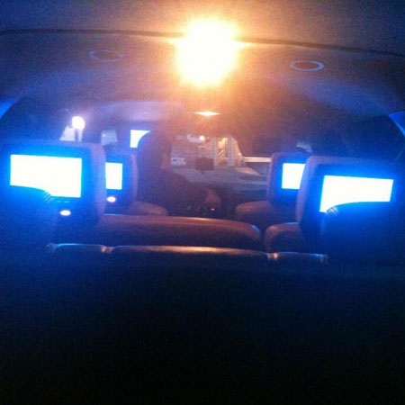 seat headrest screen